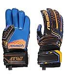 Reusch Attrakt S1 Roll Finger Junior Guantes de Portero, Hombre, Negro/Naranja/Azul Oscuro, 5