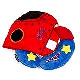HoodiePillow Pals Snuggly Travel Neck Pillow for Kids - Blue Rocket