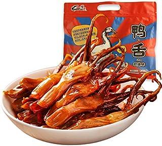 麻辣鸭舌250g 卤味熟食 休闲零食小吃 中華食材 中華名物 速食零食中華食品 中華料理 スパイシーダックタン220g蒸し煮食品カジュアルスナックファーストフードスナック (甘くて辛いアヒルの舌250g)