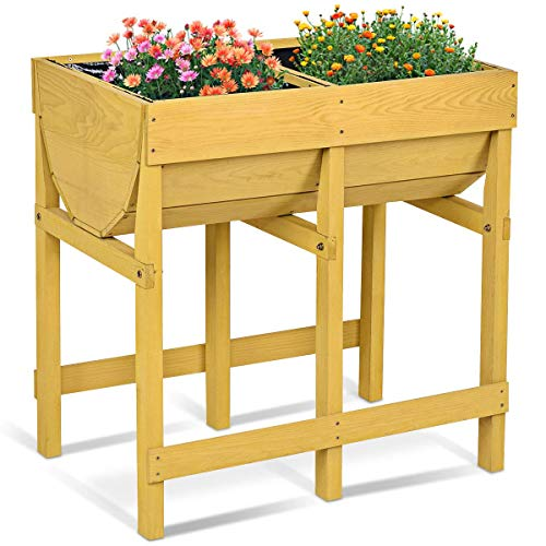 Photo de costway-potager-sur-pied-jardiniere-sur-pieds-table-de