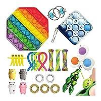 Feirming スクイーズ玩具フィジェットおもちゃ, ミニシンプルディンプルフィジットおもちゃパック子供の反応玩具カワイイファッションおもちゃ感覚ディスク官能玩具ドロップ輸送 (Color : Z)