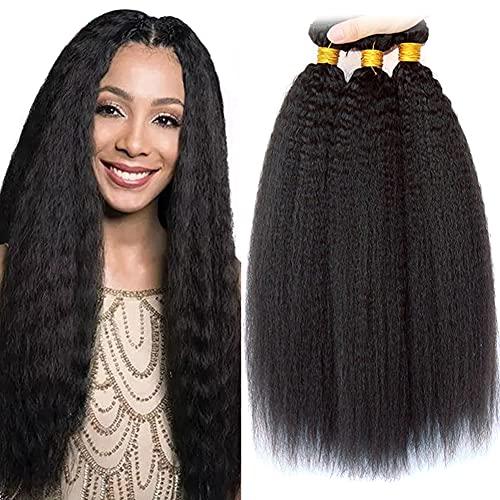 LAdiary tissage bresilien en lot 100% cheveux naturels brésilien 3 faisceaux tissage kinky straight 14 16 18 pouce double trame tissage bresilien boucle