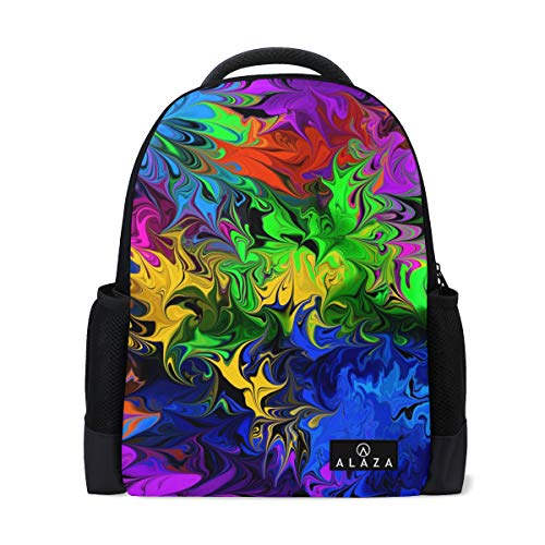 Travel Laptop Backpack Women Print Bookbags Psychedelic Best School College Student Daypack for Girls Teenage