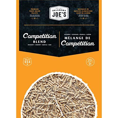 Oklahoma Joe's 2778408DP 100% All-Natural Hardwood Competition Blend Wood Pellets, (20 lb. Bag), Brown