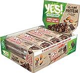 YES! Proteinriegel Mandel, Erdnuss und dunkle Schokolade, glutenfrei, 12er Pack (12 x 45g)