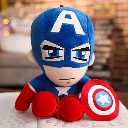 Marvel Avengers peluche bambola, Spiderman Superman Batman Capitan America Iron Man bambola bambola, regalo di compleanno Capitan America 28 cm