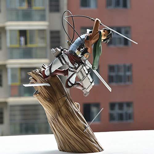 Modell Animated Charakter Angriff Auf Titan Levi · Ackerman Stump Kampfpose Modell Action-Figur Statue Dekoration 25CM