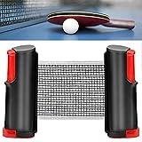 GLORHA Red de Tenis de Mesa Retráctil, Portátil Red Ping Pong Longitud...