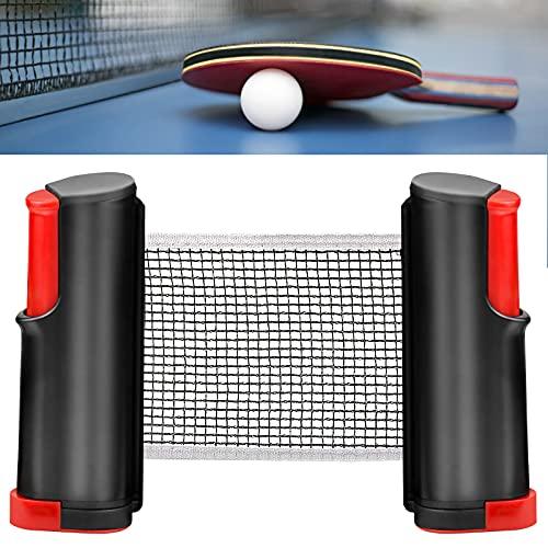 GLORHA Red de Tenis de Mesa Retráctil, Portátil Red Ping Pong Longitud Ajustable 170cm (MAX), para Mesa de Ping Pong, Escritorio de Oficina, Cocina o Mesa de Comedor