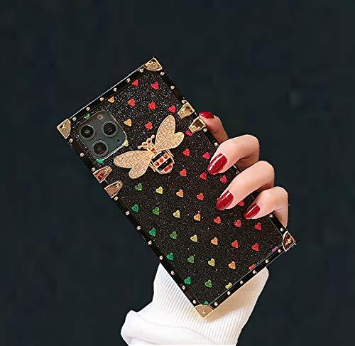 SupShop Schutzhülle für Samsung Galaxy Serie, quadratisches Design, niedlich, glitzernd, weich, Kofferraumdekoration for Samsung Galaxy Note10 Plus Note10+ B-schwarz