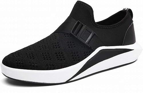 Tide Schuhe Herren Sportschuhe Atmungsaktiv Outdoor Schuhe Herrenschuhe (Farbe   Schwarz Größe   42)