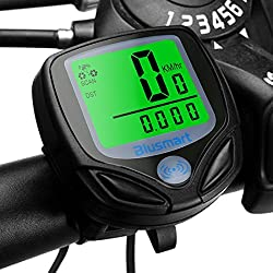 Bicycle Computer, Blusmart Wireless LCD Bicycle Speedometer Car Wake Up Backlight for Ttracking Speed and Distance, Waterproof