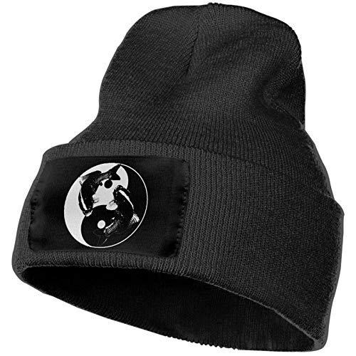 Gorros de Punto Yin Yang La Carpa Gorro Slouch Beanie de Fino para Hombres Mujeres Sombrero de Invierno de Punto Gorro