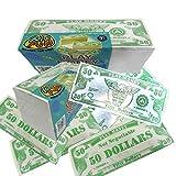 U.S. Toy Novelty Play Phoney 1000 Pack Money Fake $50 Dollar Bills