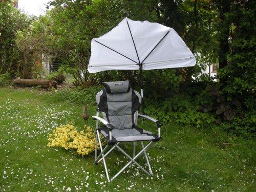 NUEVO–El regalo–Stabielo cabeza de sol silla plegable gepolster–Kit de viaje pantalla–Stabielo Holly...