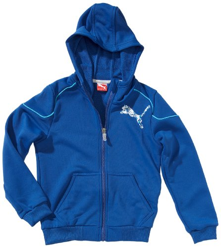 PUMA Hooded - Chaqueta para niño, tamaño 128 UK, Color Azul olímpico