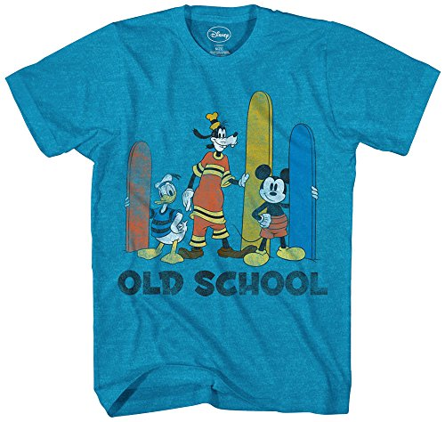 Disney Boys Mickey Mouse, Donald Duck and Goofy T-Shirt (3T, Turquoise Heather)