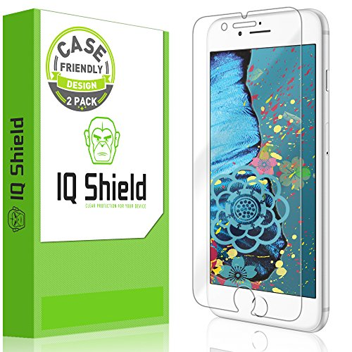 IQ Shield Screen Protector Compatible with Apple iPhone 8 Plus (2-Pack)(Case Friendly) LiquidSkin Anti-Bubble Clear Film