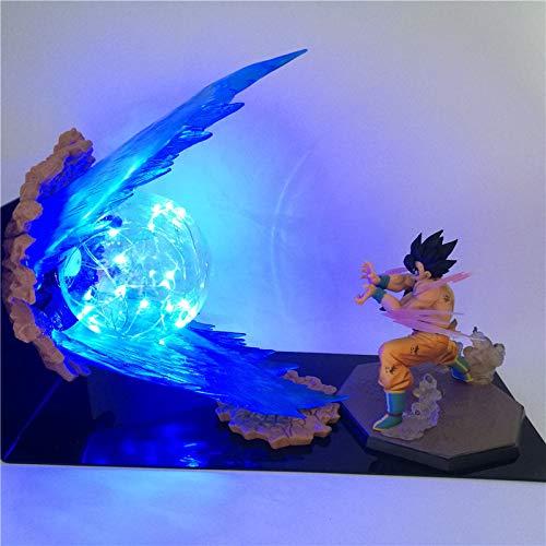 Luz nocturna de 2 piezas, diseño de bola de dragón Z, 3D, para niños, luz de noche, anime, figura de acción de Saiyan, lámpara LED para niños