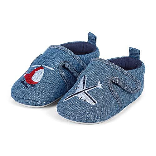 Sterntaler Jungen Baby-Krabbelschuh Slipper, Blau (Marine 300), 22 EU