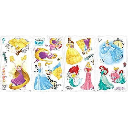 RoomMates Décor géant Disney Princesses avec paillettes
