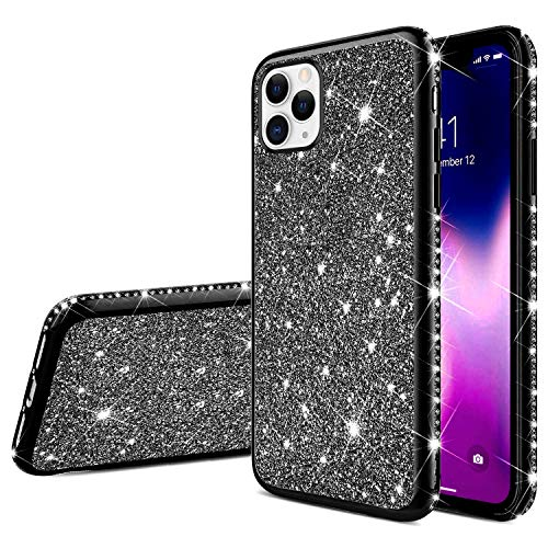 Best Buy! Herbests Compatible with iPhone 11 Pro Case for Girls Glitter Diamond Rhinestone Luxury Sp...