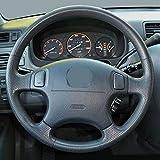 ZZMOQ per Honda CRV1997-2001 Odyssey 1998-2001, Coprivolante perAuto Ricambi Auto in PelleNera cuciti a Mano
