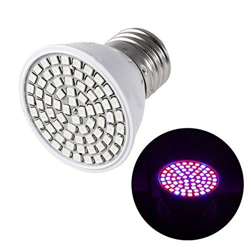 LEDMOMO 72 LED Pflanzenlampe für Garten Zimmerpflanzen Blumen und Gemüse E27 6W