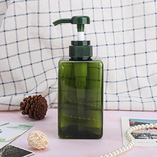 Uxsiya Dispensador de jabón portátil Botellas de aerosol Botella de loción Vacía Bomba de ducha de gran capacidad para almacenamiento de viaje para (botella de loción verde oscuro de 450 ml)