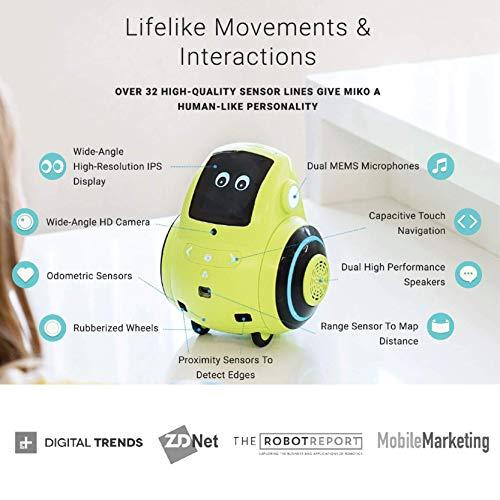 Miko 2: Playful Learning STEM Robot | Programmable + Voice Activated AI Tutor + Autonomous +...