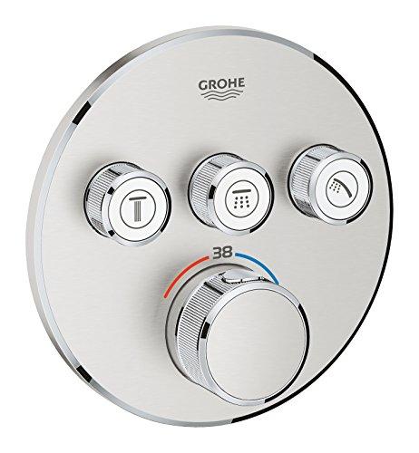 Grohe 29121DC0 29121DC0-Grohtherm SmartControl Termostato Empotrado con 3 Llaves, Supersteel