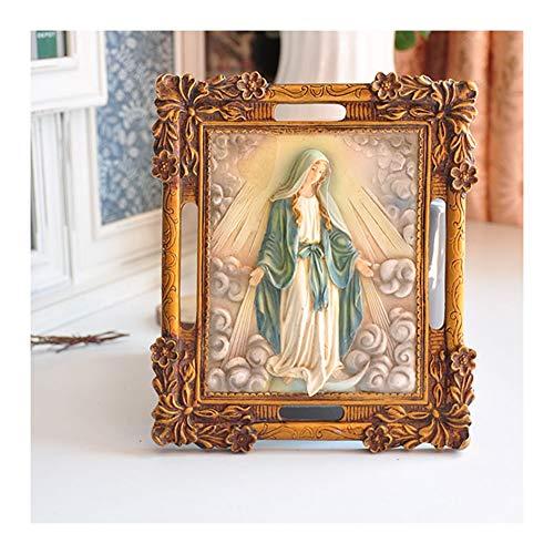 MARYYUN Weihnachtskrippe, Gemalte Katholische Jungfrau Maria Wanddekoration, Weihnachtsdekoration