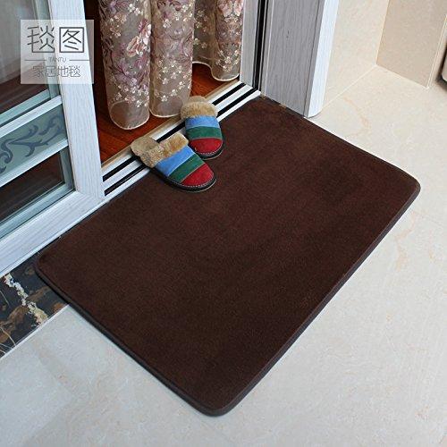 BLZZR*Aan de slag met pluisvrije anti-slip pad feed naar deur voet huis woonkamer deur mat slaapkamer bed matras pad,60cm toilet×90cm, donkerbruin