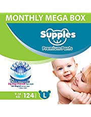 SUPPLES Diaper Pants - L - Monthly MEGA Box - 124 Pieces