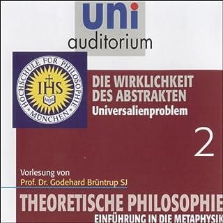 Die Wirklichkeit des Abstrakten (Theoretische Philosophie 2) Titelbild