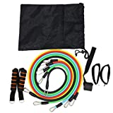 fish 11PCS / Set Pull Rope Fitness Ejercicios Bandas de Resistencia Ejercicio de Entrenamiento Yoga Elastic Pull Rope Tubos de látex Pedal Trainer, 11PCS, Estadosos