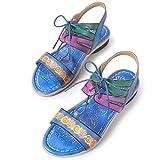 gracosy Sandalias Cuero Planas Verano Mujer Estilo Bohemia Zapatos para Mujer de Dedo...