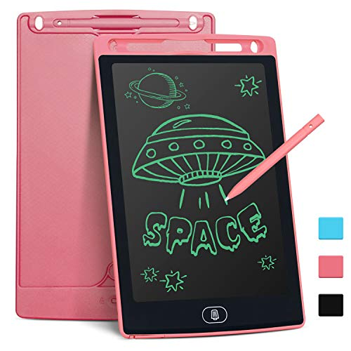 LCD Writing Tablet for Kids 8.5 Inch, Bropang Drawing Board Doodle Board Writing Pad Reusable Portable Ewriter Educational Toys, Gift for Kids Student Teacher Adults at Home, School and Office(Pink)
