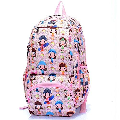 Sincere® Fashion Backpack / Zipper Sacs à dos / Rue mode / Multifonction / Mode schoolbag / loisirs sac à main / polyester sac imperméable à l'eau 5
