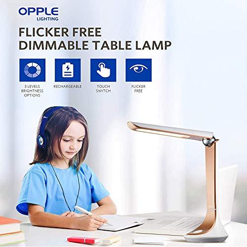 OPPLE 5W Led Desk Lamp, Flicker Free Table Lamp,Study Lamps,...