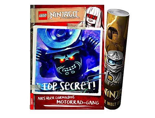 LEGO® Ninjago® - TOP Secret! Alles over Garmadons motorfiets gebonden uitgave + Ninjago poster