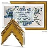 Deco TV Frames - Antique Gold Smart Frame Compatible Only with Samsung The Frame TV (6' Corner Sample, Fits 2021 Frame TV)