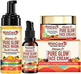 Wishcare Pure Glow Vitamin C Face Kit - For Bright & Young Skin With Hyaluronic Acid & Niacinamide