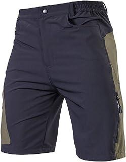 TOMSHOO Pantaloncini MTB Uomo, Pantaloncini Ciclismo Biciclette, Bici MTB Pantaloni Traspirante Shorts per Ciclismo da Cor...