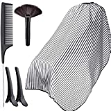 Professional Barber Cape with Snap Closure, Hair Cutting Cape Hairdressing Apron (white)