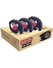 Matsuro original | kompatibla plastetiketter typband ersättning för DYMO LetraTag 91201 91221 S0721660 S0721610 svart på vitt (12 mm x 4 m | 3-pack paket)