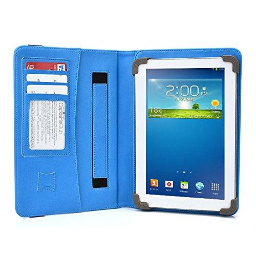 DigiLand DL808W Tablet Case - UniGrip PRO Edition - by Cush Cases (Light Blue)