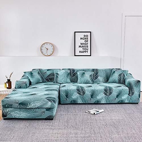 Funda de sofá nórdica, Juego de algodón, Funda de sofá, Funda de sofá elástica para Sala de Estar, sofá Chaise Longue en Forma de L, sofá A15 de 3 plazas