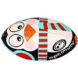 OPTIMUM Pingoins Ballon de Rugby Noir Taille 5