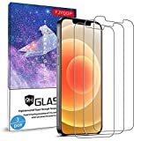 Glass Screen Protector for iPhone 12 /iPhone 12 Pro 6.1 Inch 3 Pack, 9H Tempered Glass Film, HD Clear, Bubble-Free Anti-Scratch for iPhone 12 Pro 5G Screen Protector Work Most Case